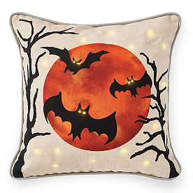 Bat Pillow with Lights