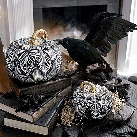 Bungalow Pumpkins, Set of Two
