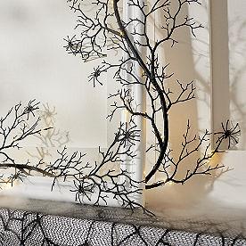 Pre-lit Spider Branch Garland