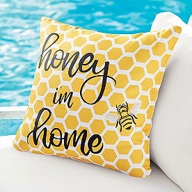 Honey I'm Home Outdoor Pillow