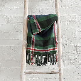 Plaid Flannel Throw
