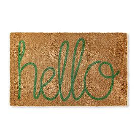 Hello Coir Door Mat