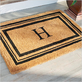 Monogrammed Coir Border Door Mat