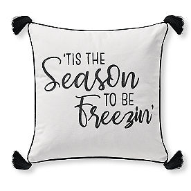 Season Freezin' Winter Happens Pillow