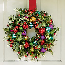 Merry and Bright Cordless Wreath, 24in