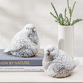 Snowy Birds, Set of Two