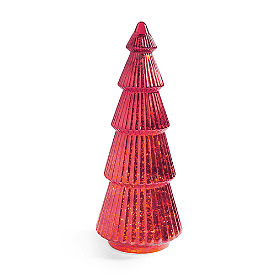 Pre-lit Glass Tree Red