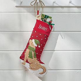 Christmas Companion Stocking, Golden Retreiver