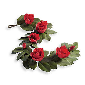 Red Magnolia Garland