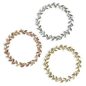 Metal Mini Leaf Wreath 18in, Set of Three
