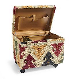 Kilim Mobile File Ottoman