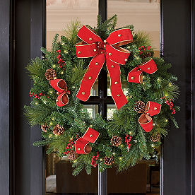Sleigh Ride Cordless Wreath with Bow