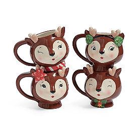 Reindeer Mugs II, Set of Four
