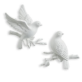 Perching Birds, Set of Two