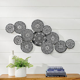Lacey Circles Metal Wall Art