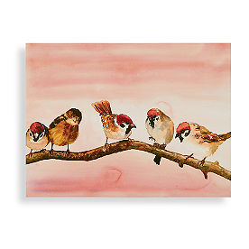 Sparrow Friends Wall Art