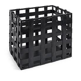 Leather Magazine Basket