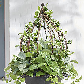 Lush Leaves Urn Filler with Cage