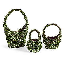 Mossy Easter Baskets, Set of Three