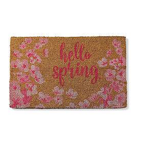 Hello Spring Floral Door Mat