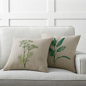 Botanical Print Pillow