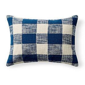 Charlie Woven Lumbar Pillow, Check