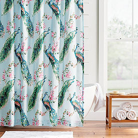Giada Peacock Shower Curtain