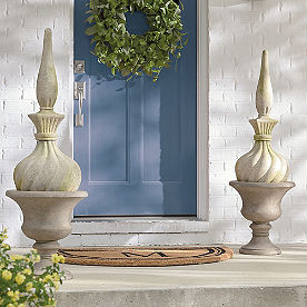 Stone Moss Finial Topiary