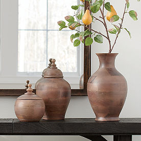 Wood Ginger Jars