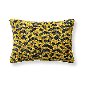 Tufted Animal Print Pillow