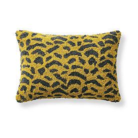 Tufted Animal Print Pillow