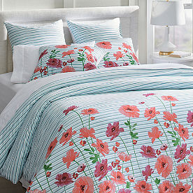 Poppy Stripe Duvet