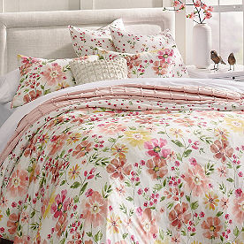 Watercolor Floral Duvet