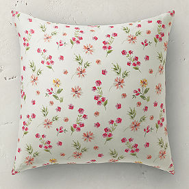 Watercolor Floral Euro Sham