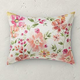 Watercolor Floral Sham