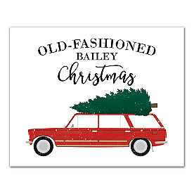 Personalized Christmas Car Canvas