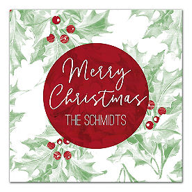 Personalized Merry Christmas Canvas