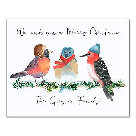 Personalized Winter Birds Canvas