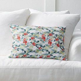 Watercolor Holly Pillow