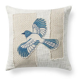 Stitched Bird Pillow