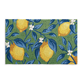 Lemon Vine Hooked Door Mat