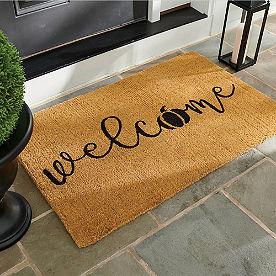 Welcome Pumpkin Coir Door Mat