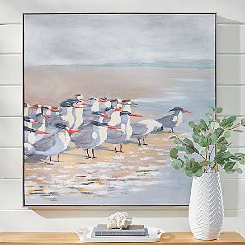 Flock of Gulls Wall Art