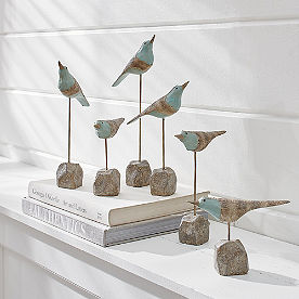 Dancing Sea Birds, Set of Six
