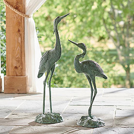 Garden Herons, Set of Two