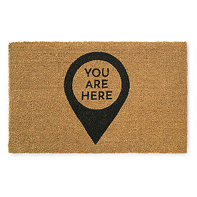 You Are Here Coir Door Mat