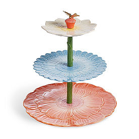 Fabulous Floral Three-Tiered Server