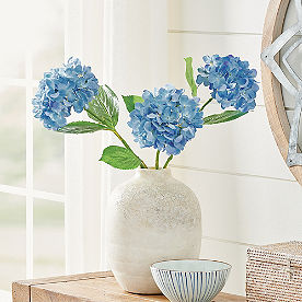 Blue Hydrangea Stem, Set of Three