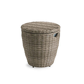 Simsbury Outdoor Wicker Storage Table