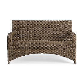 Rockland Wicker Loveseat